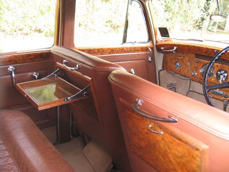 wedding cars bentley interior tray