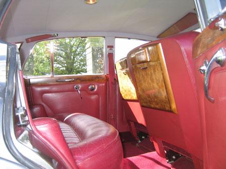 wedding cars surrey S3 Bentley Silver Cloud interior