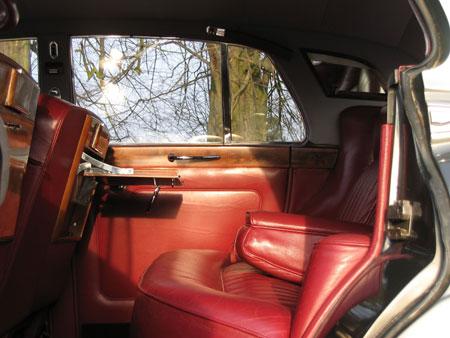 wedding cars surrey S3 Bentley Silver Cloud interior back