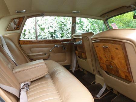 wedding cars surrey T1 Silver Shadow Bentley interior