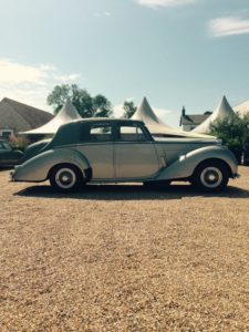 Wedding cars surrey bentley r type right view 4