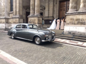 Wedding cars surrey bentley s3 at st pauls