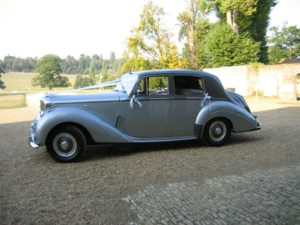 Wedding cars surrey bentley r type left view 2