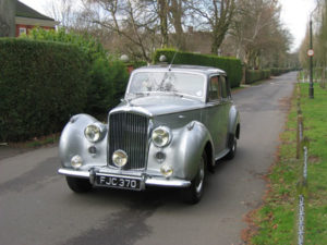 Wedding cars surrey bentley r type front view