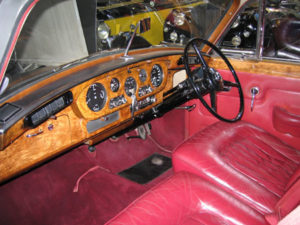 Wedding cars surrey bentley s3 interior view 2